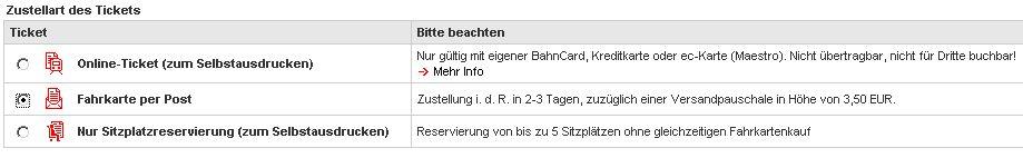 Zahlweisen beim Ticketkauf auf Bahn.de
