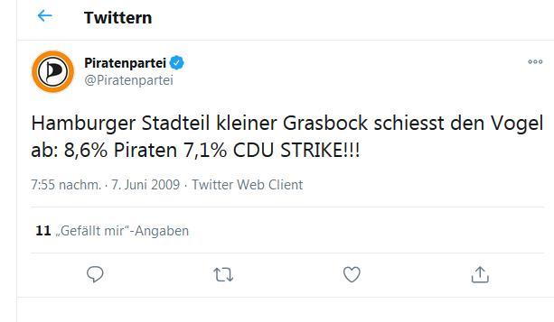 Piraten vor der CDU