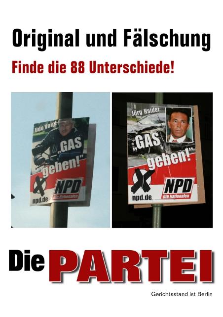 die Partei Wahlplakat
