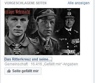 Facebookgruppen: Das Ritterkreuz und seine Ritterkreuzträger Wehrmacht