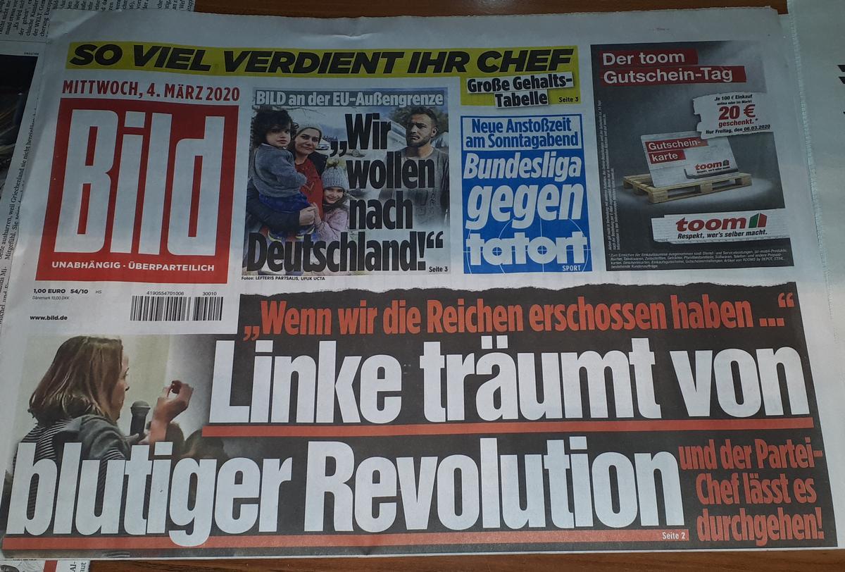 Bild: Linke träumt von blutiger Revolution