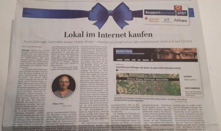 Lokal im Internet kaufen im Göttinger Tageblatt vom 24.12.2020