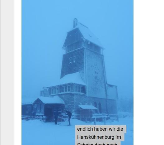 Webstory- der Weg im Schnee