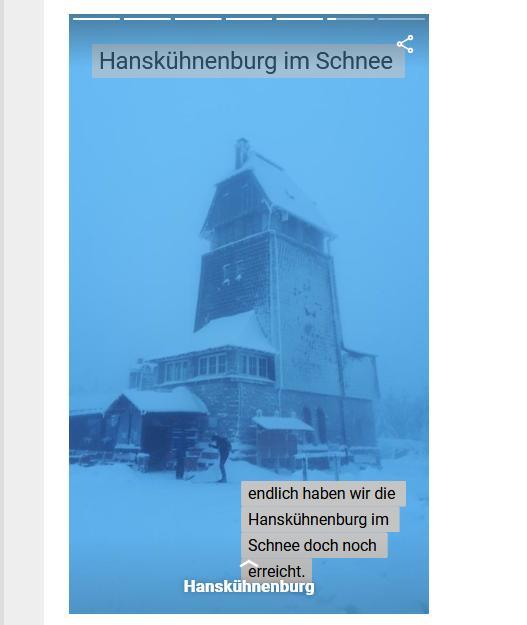 Webstory Hanskühnenburg im Schnee